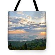 Spring Sunset Panorama Tote Bag