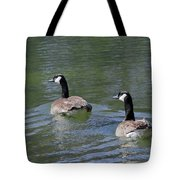 Spring Thaw Water Geese Tote Bag
