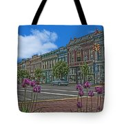 Spring Tulips Downtown Georgetown Tote Bag