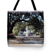 Spring Walk Through Forsyth Park Tote Bag