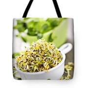 Sprouts In Cups Tote Bag by Elena Elisseeva