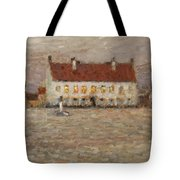 Square - Fort-philippe Tote Bag by Henri Eugene Augustin Le Sidaner