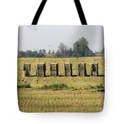 Square Hay Bales Tote Bag
