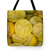 Squeezed Key Lime Halves Tote Bag