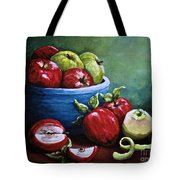 Srb Apple Bowl Tote Bag