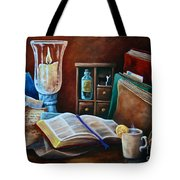 Srb Candlelit Library Tote Bag