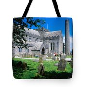 St Canices Cathedral &, Round Tower Tote Bag