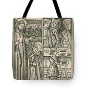 St. Catherine, Italian Philosopher Tote Bag by Science Source