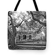 St. Charles Ave. Mansion Monochrome Tote Bag