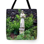 St Francis In The Garden Tote Bag