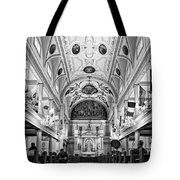 St. Louis Cathedral Monochrome Tote Bag