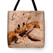 St. Lucia Crab On Beach Tote Bag