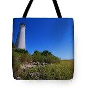 St Marks Lighthouse Along The Gulf Coastst Tote Bag