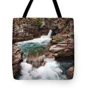 St. Mary Falls Glacier National Park Tote Bag