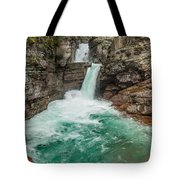 St. Mary Falls In Spring Tote Bag