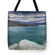 St. Mary Lake Under Stormy Skies Tote Bag