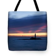St Marys Lighthouse Sunrise Tote Bag