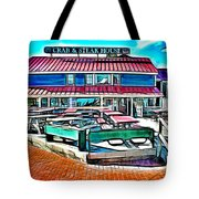 St Michaels Crab And Steak House Tote Bag