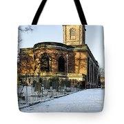 St Modwen's Church - Burton - In The Snow Tote Bag