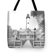 St. Simons Lighthouse Tote Bag