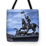 St Vitus Cathedral - St George Statue  Tote Bag