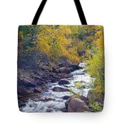 St Vrain Canyon And River Autumn Season Boulder County Colorado Tote Bag