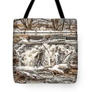 St Vrain River Waterfall   Tote Bag