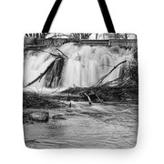St Vrain River Waterfall Slow Flow Bw Tote Bag