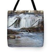St Vrain River Waterfall Slow Flow Tote Bag