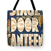 Stage Door Canteen Tote Bag by Georgia Fowler