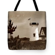Stage Harbor Lighthouse Tote Bag
