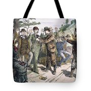 Stagecoach Robbery, 1880s Tote Bag