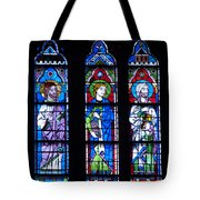 Stain Glass At Notre Dame Cathedral Parus Tote Bag