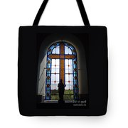 Stained Glass Cross Window Of Hope Tote Bag