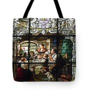 Stained Glass Family Giving Thanks Tote Bag