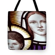 Stained Glass Holy Family Tote Bag