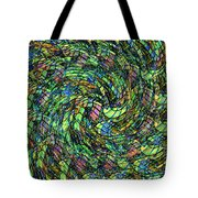 Stained Glass In Abstract Tote Bag