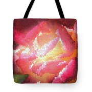 Stained Glass Rose Tote Bag