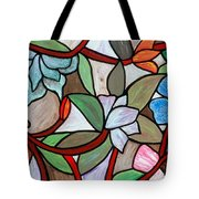 Stained Glass Wild  Flowers Tote Bag
