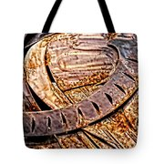 Stainless And Rust Abstract Tote Bag