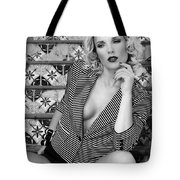 Stairs And Stripes Bw Tote Bag