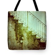Stairs On A Rainy Day II Tote Bag