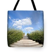Stairs To The Big Blue Sky Tote Bag