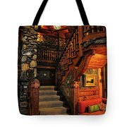 Stairway In Gillette Castle Connecticut Tote Bag