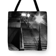 Stairway To Montmartre At Night Tote Bag