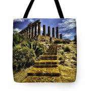 Stairway To The Past Tote Bag