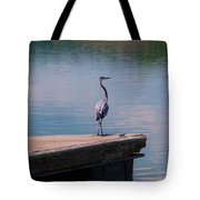 Standing On The Dock Tote Bag