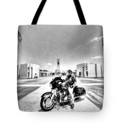 Standing Watch At The Houston National Cemetery Tote Bag by David Morefield