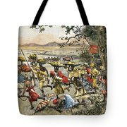 Stanley Leads Attack On Hostile Tribe Tote Bag