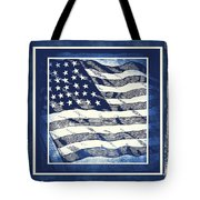 Star Spangled Banner Blue Tote Bag